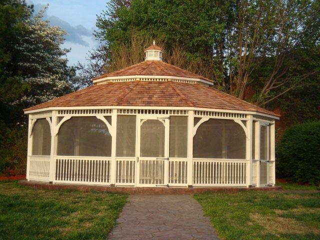 Gazebo structure gothic arch greenhouses for Large wooden gazebos